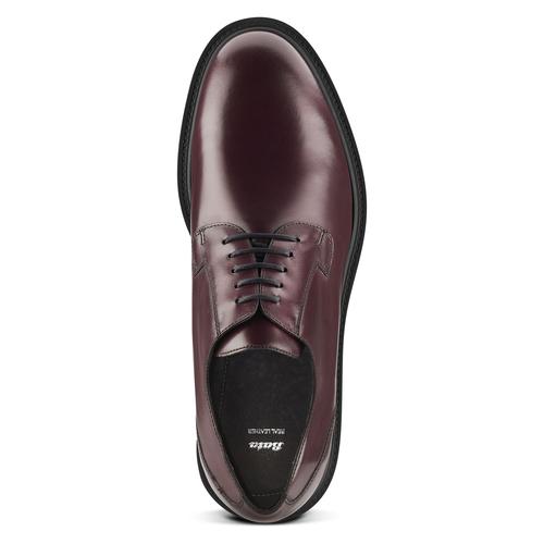 Scarpe derby color vinaccia bata, rosso, 824-5157 - 15