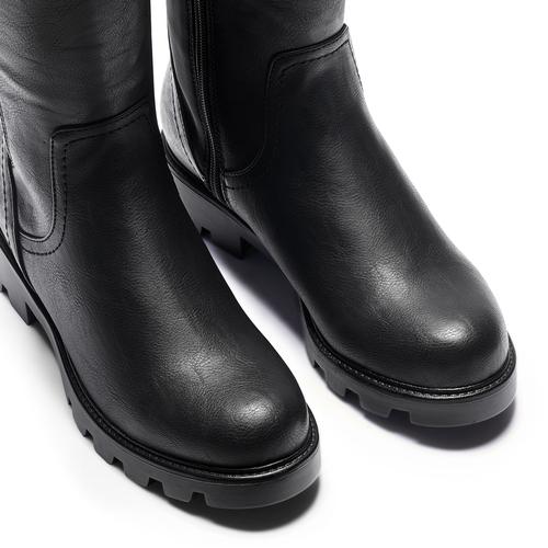 Stivali al ginocchio da donna bata, nero, 591-6160 - 15