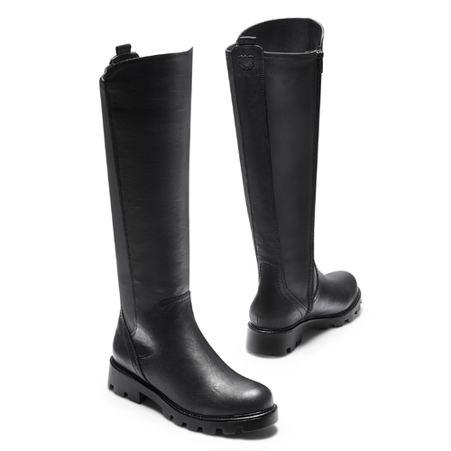 Stivali al ginocchio da donna bata, nero, 591-6160 - 19