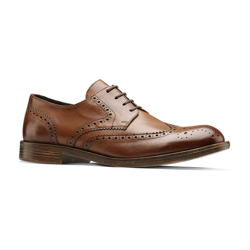 Derby in pelle da uomo bata, marrone, 824-3429 - 13