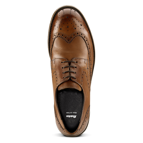Derby in pelle da uomo bata, marrone, 824-3429 - 15