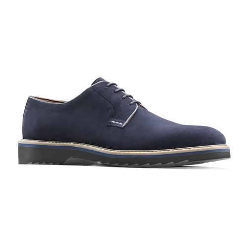 Scarpe stringate in camoscio bata-light, blu, 823-9986 - 13