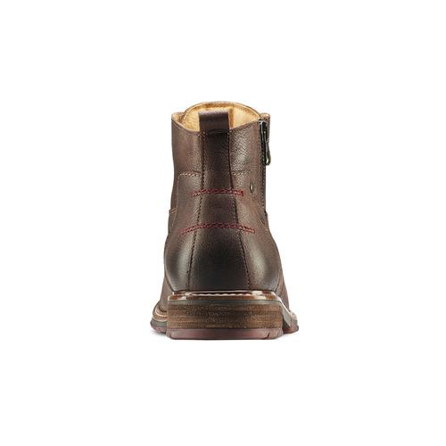 Stivaletti con lacci da uomo bata, marrone, 894-4718 - 16