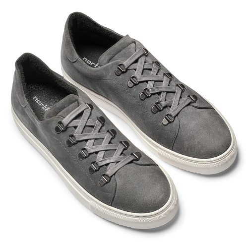Sneakers in suede da uomo north-star, grigio, 843-2736 - 19