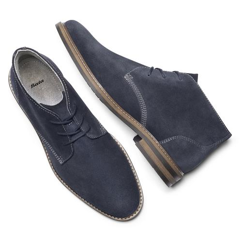 Desert boots da uomo bata, blu, 823-9105 - 19
