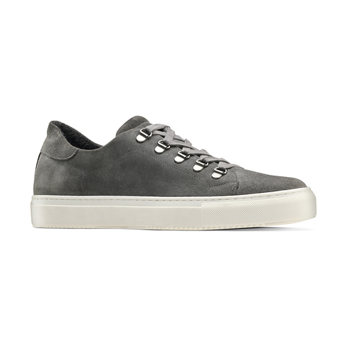 Sneakers in suede da uomo north-star, grigio, 843-2736 - 13