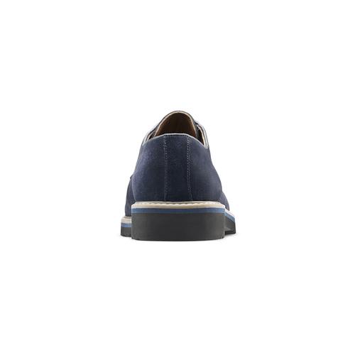 Scarpe stringate in camoscio bata-light, blu, 823-9986 - 16