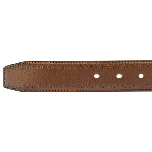 Cintura uomo con decorazione bata, marrone, 954-4103 - 16