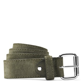 Cintura scamosciata uomo bata, verde, 953-7106 - 13