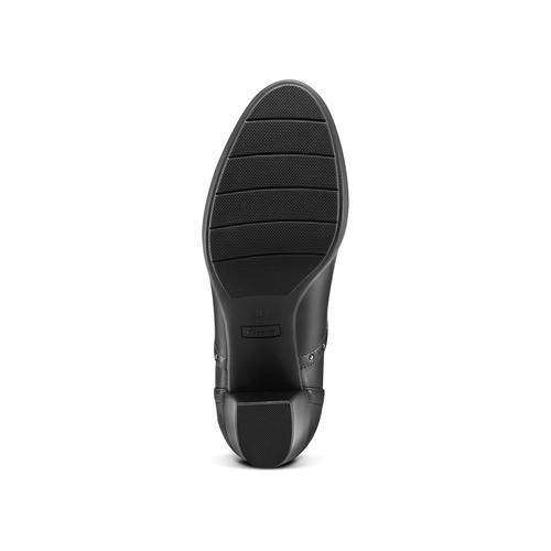 Francesine con tacco bata, nero, 721-6973 - 17