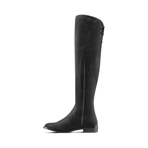 Stivali alti da donna bata, nero, 599-6515 - 16