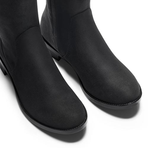 Stivali alti da donna bata, nero, 599-6515 - 15