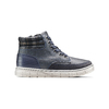Sneakers alte da bambino con zip mini-b, blu, 391-9397 - 26