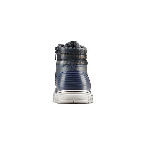 Sneakers alte da bambino con zip mini-b, blu, 391-9397 - 16