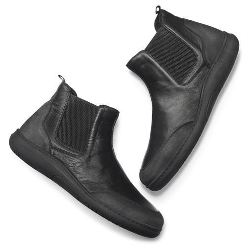 Stivaletti Comfit in pelle, nero, 894-6712 - 19