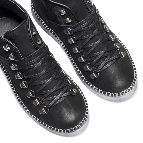 Scarponcini con lacci da donna bata, nero, 596-6245 - 19