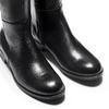 Stivali alti da donna in pelle bata, nero, 594-6378 - 15