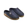 Ciabatte in lana cotta bata, blu, 579-9420 - 16