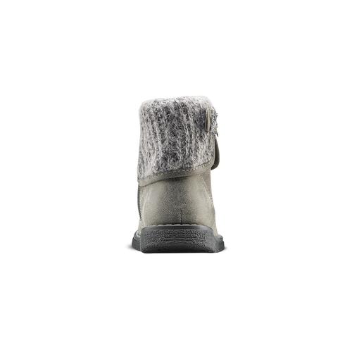 Stivaletti da bimba con dettaglio in lana mini-b, beige, 291-2170 - 16
