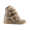 Ankle boots Michelle con dettagli in pelliccia bata, grigio, 593-2442 - 13