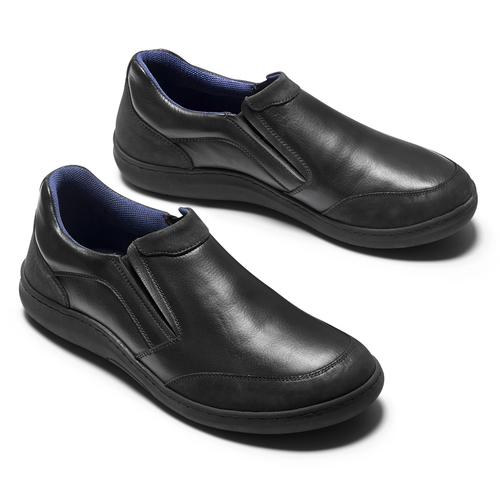 Mocassini Comfit in pelle da uomo, nero, 834-6138 - 19