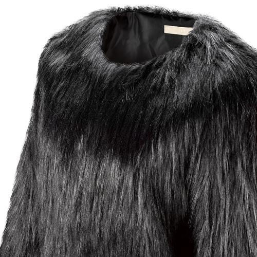 Pelliccia nera da donna bata, nero, 979-6173 - 15