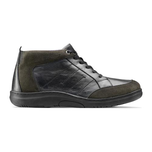 Scarpe Comfit uomo in pelle bata-comfit, nero, 894-6710 - 26