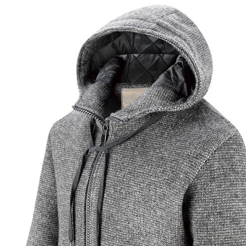 Giacca da uomo con cappuccio, grigio, 979-2146 - 15