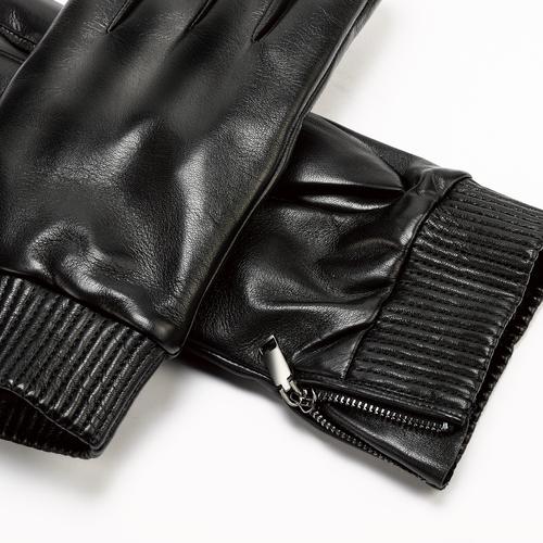 Guanti da uomo con zip bata, nero, 904-6128 - 15