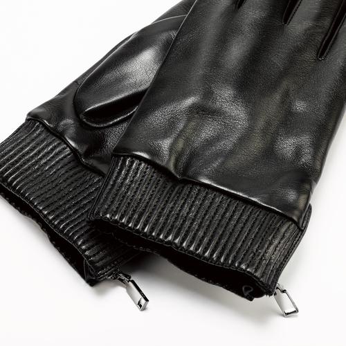 Guanti da uomo con zip bata, nero, 904-6128 - 26