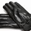 Guanti da uomo con zip bata, nero, 904-6128 - 16