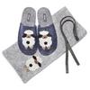 Pantofole in lana cotta da donna bata, blu, 579-9128 - 19