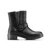 Ankle boots con borchie da bambina mini-b, nero, 391-6410 - 26