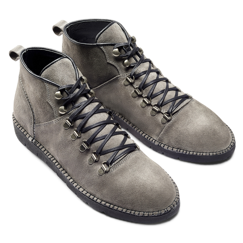 Scarponcini casual da uomo bata, grigio, 893-3148 - 19