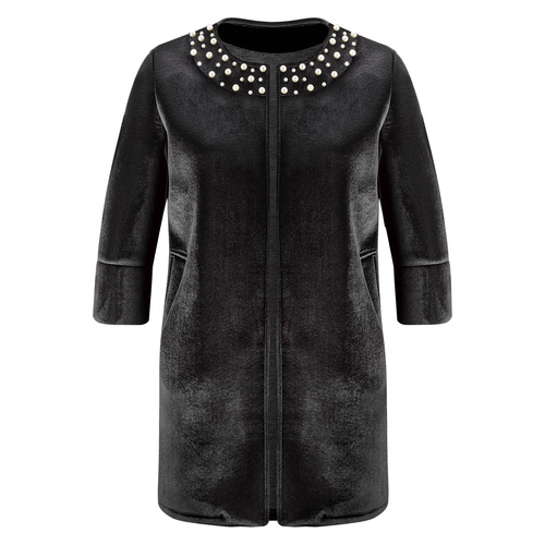 Cappotto con perle bata, nero, 979-6222 - 13