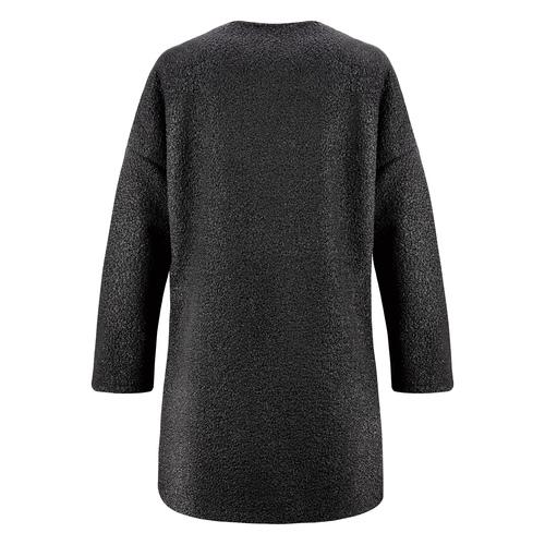 Cappotto in lana con dettaglio perle bata, nero, 979-6220 - 26