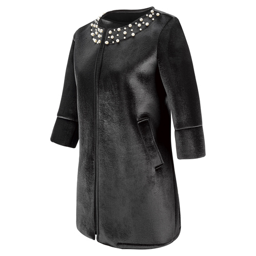 Cappotto con perle bata, nero, 979-6222 - 16