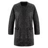 Cappotto in lana con dettaglio perle bata, nero, 979-6220 - 13