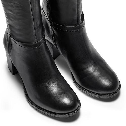 Stivali Bata in vera pelle bata, nero, 694-6361 - 15