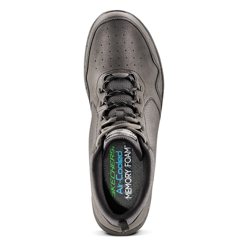 Sneakers Skechers in pelle skechers, grigio, 806-2327 - 15