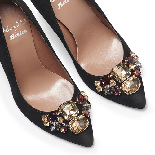 Décolleté Melissa Satta Capsule Collection bata, nero, 723-6263 - 19