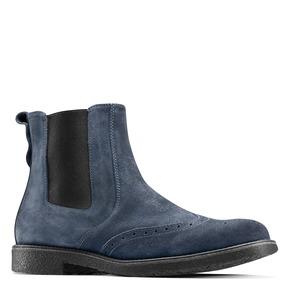 Chelsea Boots in suede bata, blu, 893-9225 - 13