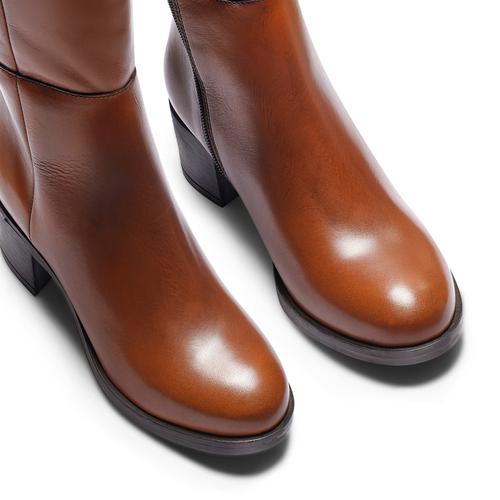 Stivali da donna in vera pelle bata, marrone, 694-3436 - 15