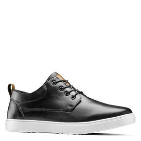 Sneakers in similpelle bata, nero, 841-6154 - 13