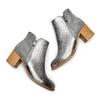 Stivaletti laminati con strass bata, argento, 791-2245 - 26