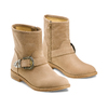 Ankle boots con fibbia bata, beige, 599-8691 - 16