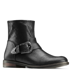 Ankle boots western inspired bata, nero, 599-6691 - 13