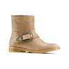 Ankle boots con fibbia bata, beige, 599-8691 - 13