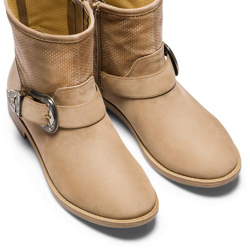 Ankle boots con fibbia bata, beige, 599-8691 - 17