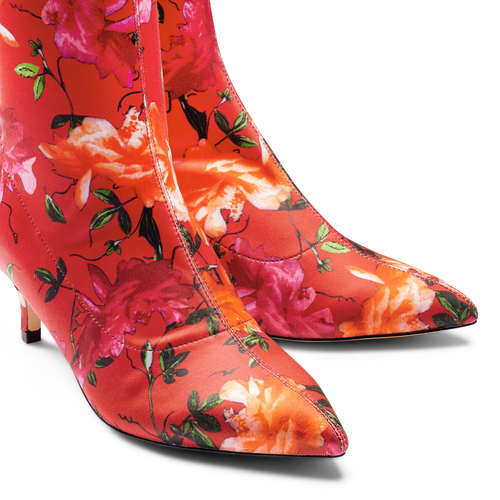 Stivaletti calzino con tacco bata, rosso, 799-5267 - 17